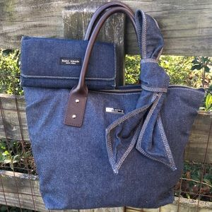 Kate Spade ♠️ Blue Jean Tote Bag & Wallet Bird Set